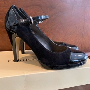 Franco Sarto Blk Size 6 High Heel Shoes